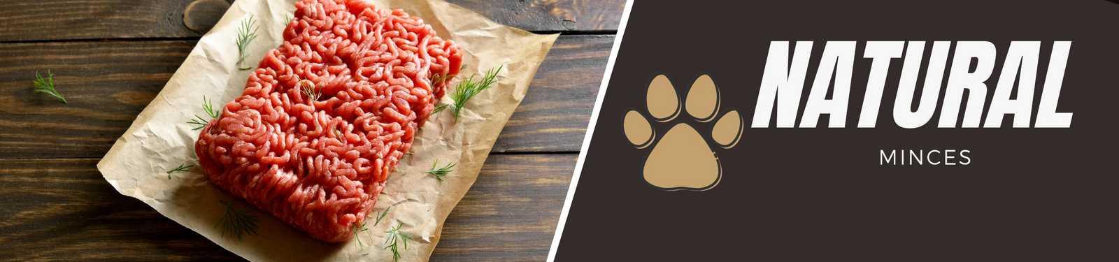 Raw natural dog food mince