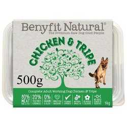 Benyfit Natural Chicken & Tripe - Raw Food - For Working Dogs - 500g