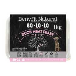 Benyfit Natural Duck Meat Feast - Raw Food - For Working Dogs - 1kg