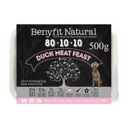 Benyfit Natural Duck Meat Feast -Raw Food - For Working Dogs - 500g