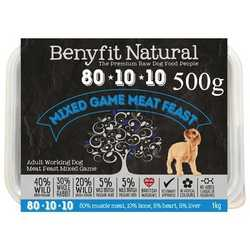 Benyfit Natural Mixed Game Meat Feast - Raw Food - For Working Dogs - 500g
