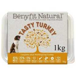 Benyfit Natural Tasty Turkey - Raw Food - For Working Dogs - 1kg