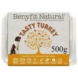 Benyfit Natural Tasty Turkey - Raw Food - For Working Dogs - 500g