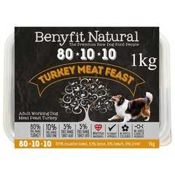 Benyfit Natural Turkey Meat Feast - Raw Food - For Working Dogs - 1kg