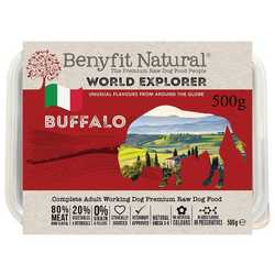 Benyfit Natural World Explorer Buffalo - Raw Food - For Working Dogs - 500g