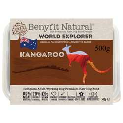 Benyfit Natural World Explorer Kangaroo - Raw Food - For Working Dogs - 500g