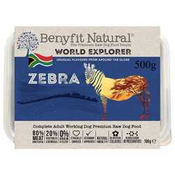 Benyfit Natural World Explorer Zebra - Raw Food - For Working Dogs - 500g