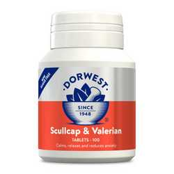 Dorwest Scullcap & Valerian Tablets - For Dogs And Cats