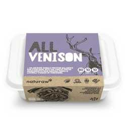 Naturaw All Venison - Raw Food - For Working Dogs -500g