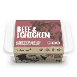 Naturaw Beef & Chicken - Raw Food - For Working Dogs - 500g