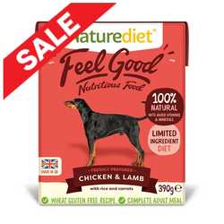 Naturediet Feel Good Chicken & Lamb - 390g
