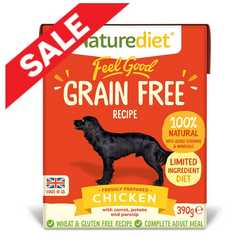 Naturediet Feel Good Grain Free Dog Food - Chicken 390g