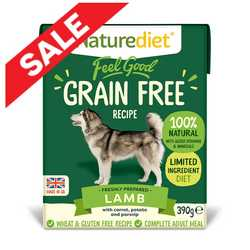 Naturediet Feel Good Grain Free Dog Food - Lamb - 390g