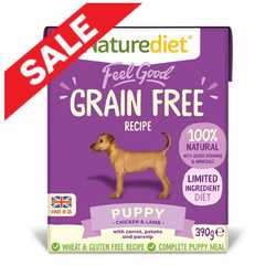 Naturediet Feel Good Grain Free Dog Food - Puppy 390g