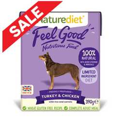 Naturediet Feel Good - Turkey & Chicken - 390g