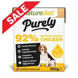 Naturediet Purely Dog Food - Chicken 390g
