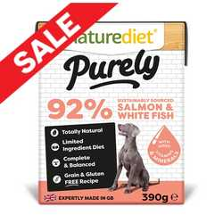 Naturediet Purely Dog Food - Salmon & White Fish 390g