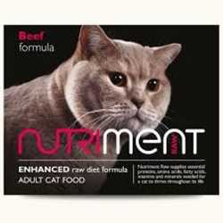 Nutriment Beef Formula - Raw Food - For Cats - 500g