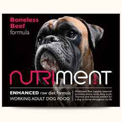 Nutriment Boneless Beef - Raw Food - For Working Dogs - 500g