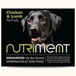Nutriment Chicken & Lamb Formula - Raw Food - For Working Dogs - 500g