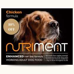 Nutriment Chicken Formula - Raw Food - For Working Dogs - 500g