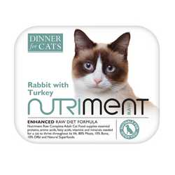 Nutriment Dinner For Cats - Rabbit & Turkey - Raw Food - 175g