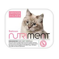 Nutriment Dinner For Cats - Salmon - Raw Food - 175g