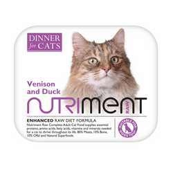 Nutriment Dinner For Cats - Venison & Duck - Raw Food - 175g
