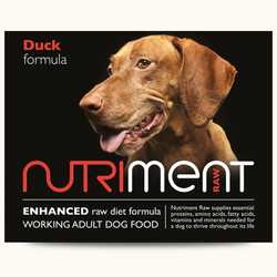 Nutriment Duck Formula - Raw Food - For Working dogs - 500g