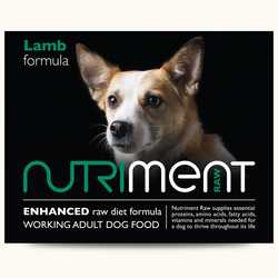 Nutriment Lamb Formula - Raw Food - For Working Dogs - 500g