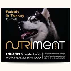 Nutriment Rabbit with Turkey Formula - Raw Food - For Working Dogs - 500g