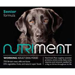 Nutriment Senior Formula - Raw Food - For Senior Working Dogs - 500g
