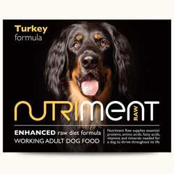 Nutriment Turkey Formula - Raw Food - For Working Dogs - 500g