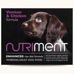 Nutriment Venison with Chicken Formula - Raw Food - For Working Dogs - 500g