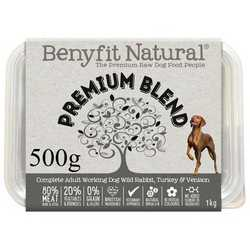 Premium Blend Complete Adult Raw Working Dog Food 500g
