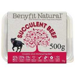 Succulent Beef Complete Adult Raw Working Dog Food 500g
