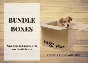 Dog in a box.