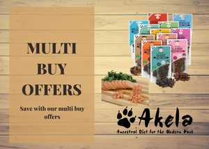 Multi buy discount akela logo, jr pure pate and jr pure training treats