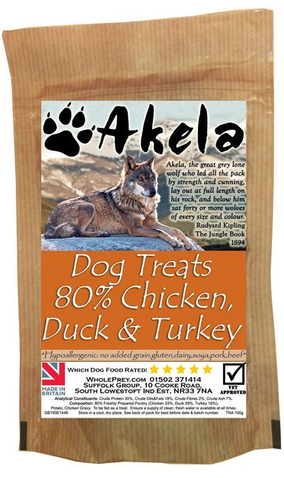 Akela Training Treats 80% Chicken, Duck & Turkey