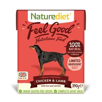 Feel Good Dog Food - Chicken & Lamb 390g