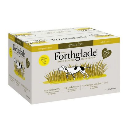 Forthglade Complete Grain Free Multi Poultry Case 12 pack