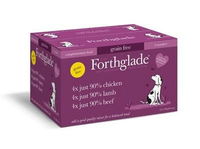 Forthglade Just chicken, lamb & beef variety pack - Wet Food - For Dogs