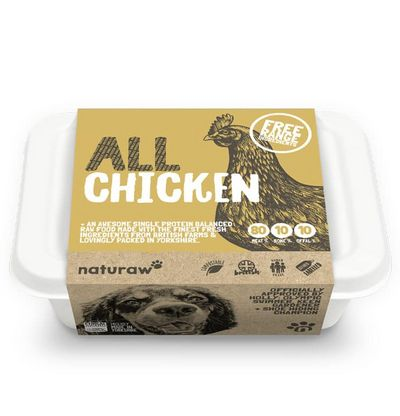 Naturaw All Chicken - Raw Food - For Working Dogs