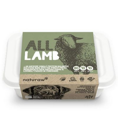Naturaw All Lamb - Raw Food - For Working Dogs