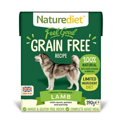 Naturediet Feel Good Grain Free Dog Food - Lamb 390g