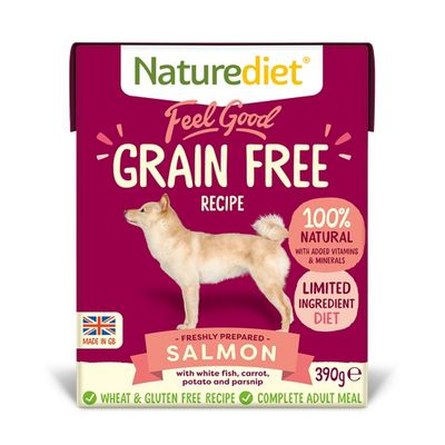 Naturediet Feel Good Grain Free Dog Food - Salmon 390g