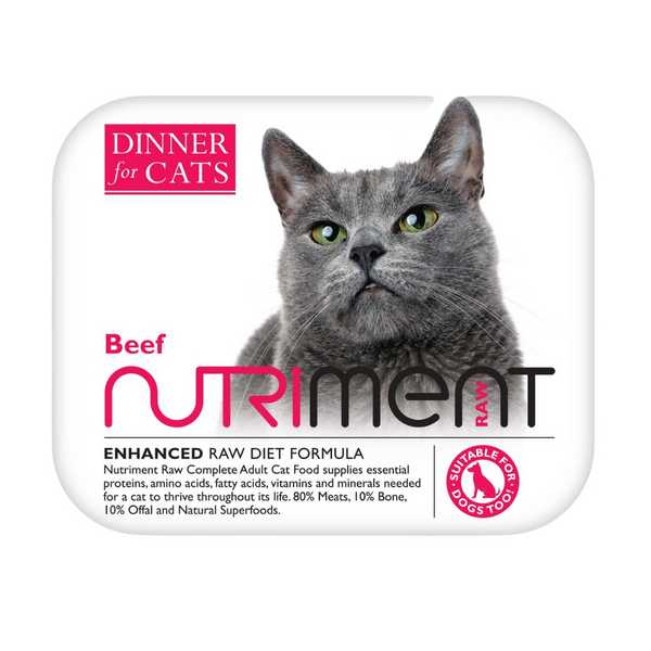 Nutriment Dinner For Cats - Beef - Raw Food - 175g
