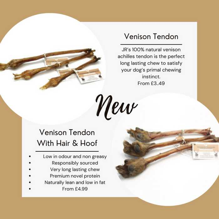 Jr pet product venison tendons